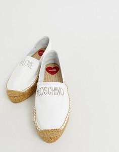 Эспадрильи с заклепками Love Moschino - Белый