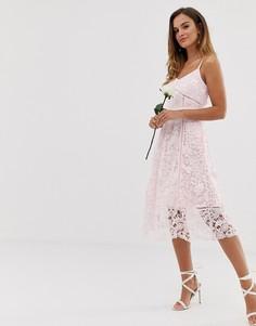 3f44bb353c01 Кружевное платье миди Ted Baker bridal premium - Розовый
