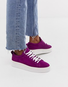 Кожаные кроссовки Vero Moda - Красный
