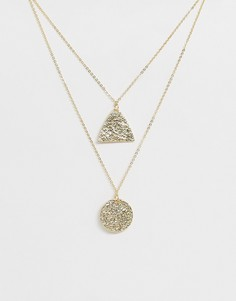 Двухъярусное ожерелье Nylon - Золотой