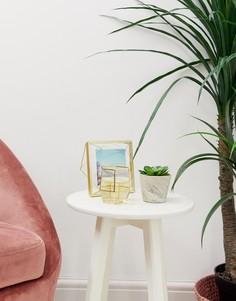 Цветочный горшок под мрамор с искусственным растением Candlelight - Серый