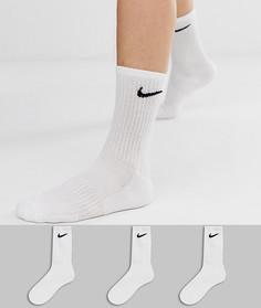 Набор из 3 пар белых носков Nike Training - Белый