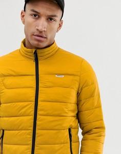 Стеганая куртка горчичного цвета Bershka - Желтый