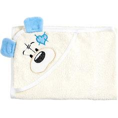 Полотенце с капюшоном Мишки Fun Dry, Twinklbaby, светло-бежевый с голубыми ушками