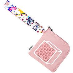 Кошелек Upixel Funny Square, светло-розовый