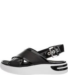 Кожаные сандалии на платфомре Geox