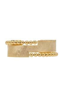 Золотистый браслет с фактурной отделкой Exclaim