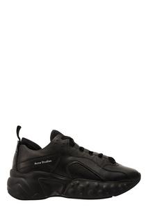 Черные кроссовки из замши и кожи Manhattan Acne Studios