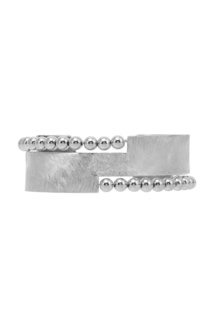 Серебристый браслет с фактурной отделкой Exclaim