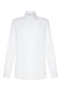 Хлопковая белая рубашка с длинными рукавами Van Laack