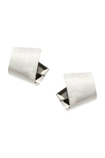 Серебристые серьги с фигурной композицией Exclaim