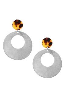 Комбинированные серьги с серебристыми подвесками Exclaim
