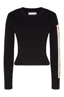 Черный джемпер в рубчик Calvin Klein