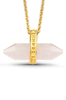 Позолоченный кулон с розовым кварцем Lav`Z