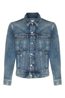 Джинсовая куртка с вареным эффектом Calvin Klein