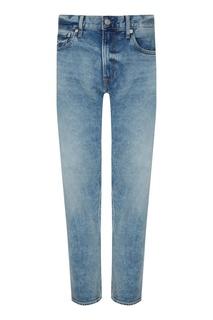 Голубые джинсы с вареным эффектом Calvin Klein