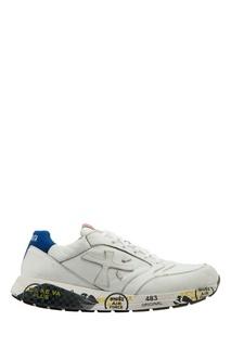 Белые кроссовки с яркими акцентами Zac-Zac Premiata