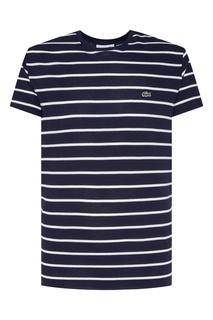 Синяя футболка в полоску Lacoste