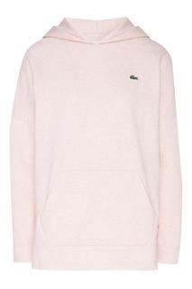 Розовое худи с логотипом Lacoste