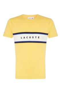 Желтая футболка с логотипом Lacoste