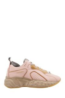 Розовые комбинированные кроссовки Acne Studios