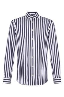 Хлопковая рубашка в контрастную полоску Van Laack