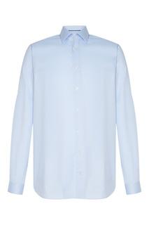 Голубая хлопковая рубашка Van Laack