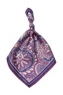 Сиреневый шелковый платок с принтом Van Laack