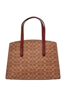 Объемная сумка с монограммами Coach
