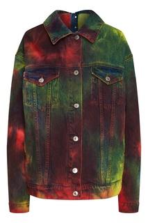 Разноцветная джинсовая куртка оверсайз Msgm