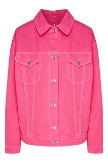 Розовая джинсовая куртка оверсайз Msgm