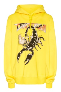 Желтое худи со скорпионом Msgm