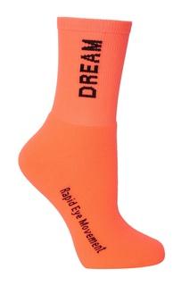 Оранжевые носки с надписями Msgm