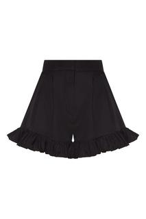 Черная юбка-шорты с оборками Msgm