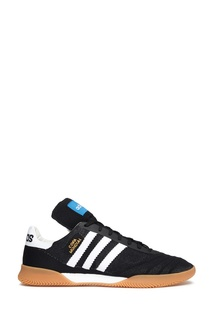 Черные кроссовки с белыми полосками Adidas