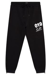 Черные брюки с контрастной отделкой C.P. Company