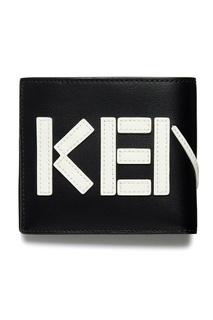 Кожаный кошелек с логотипом Kenzo