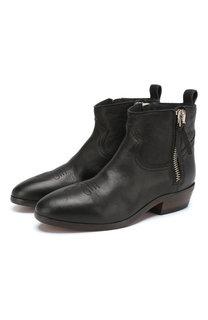 Кожаные ботинки Viand на устойчивом каблуке Golden Goose Deluxe Brand
