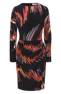 Шелковое платье с принтом Givenchy
