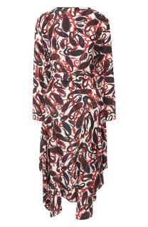 Шелковое платье с принтом Chloé