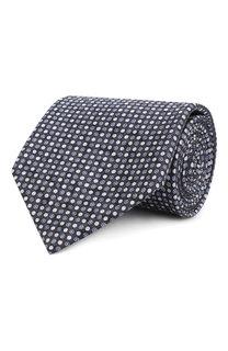 Комплект из шелковых галстука и платка Brioni