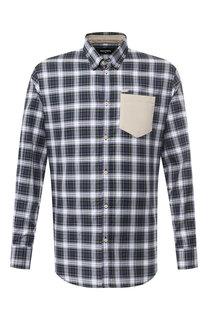 Хлопковая рубашка с воротником кент Dsquared2