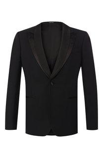 Пиджак из смеси шерсти и шелка Alexander McQueen