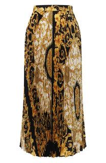 Шелковая юбка с принтом Versace