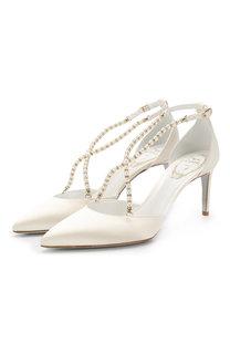 Туфли Eliza из сатина Rene Caovilla