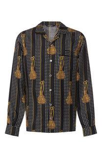 Шелковая домашняя сорочка Dolce & Gabbana
