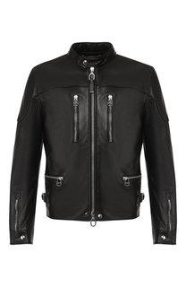 Кожаная куртка Lanvin