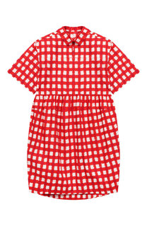 Хлопковое платье-рубашка Marni