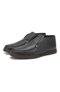 Кожаные ботинки Open Walk с внутренней меховой отделкой Loro Piana