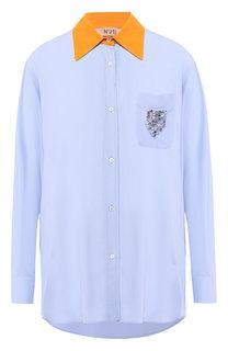 Блузка с накладным карманом No. 21